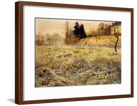The Hoar Frost, c.1900-Fritz Thaulow-Framed Art Print