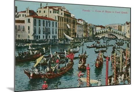 Grand Canal, Venice. Postcard Sent in 1913-Italian Photographer-Mounted Giclee Print