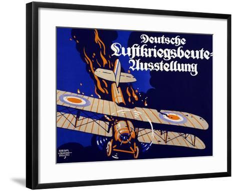 Poster Advertising the German Air War Booty Exhibition, 1918-Siegmund von Suchodolski-Framed Art Print