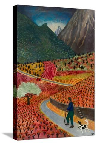 Evening at La Voulte, 1999-Lucy Raverat-Stretched Canvas Print