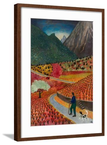 Evening at La Voulte, 1999-Lucy Raverat-Framed Art Print
