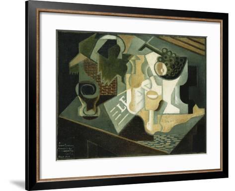 The Table in Front of the Building; La Table Devant Le Battiment, 1919-Juan Gris-Framed Art Print