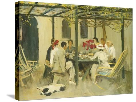 Tea at Palm Springs, 1938-Sir John Lavery-Stretched Canvas Print