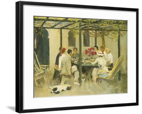 Tea at Palm Springs, 1938-Sir John Lavery-Framed Art Print
