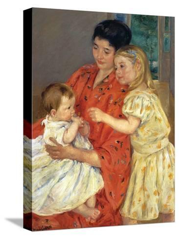 Mother and Sarah with the Baby, 1901-Mary Cassatt-Stretched Canvas Print