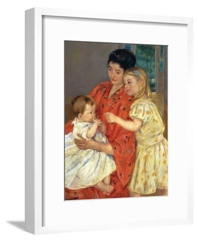 Mother and Sarah with the Baby, 1901-Mary Cassatt-Framed Art Print