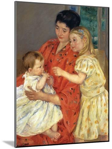 Mother and Sarah with the Baby, 1901-Mary Cassatt-Mounted Giclee Print