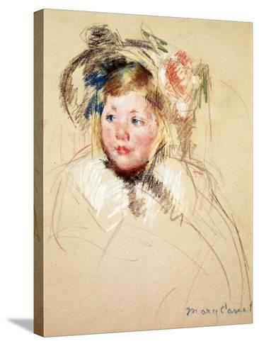Sarah Looking Left, 1901-Mary Cassatt-Stretched Canvas Print