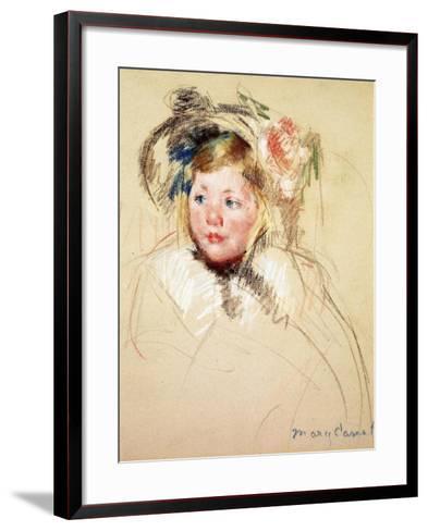 Sarah Looking Left, 1901-Mary Cassatt-Framed Art Print