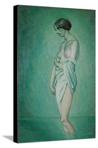 Bather in Profile, Effect of Green and Pink, 1918-F?lix Vallotton-Stretched Canvas Print