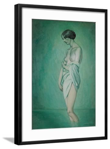 Bather in Profile, Effect of Green and Pink, 1918-F?lix Vallotton-Framed Art Print