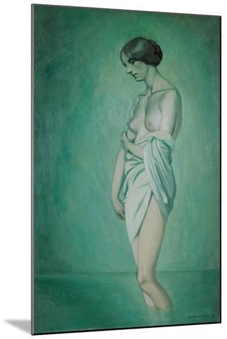 Bather in Profile, Effect of Green and Pink, 1918-F?lix Vallotton-Mounted Giclee Print