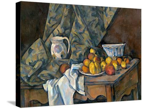 Still Life with Apples and Peaches, c.1905-Paul C?zanne-Stretched Canvas Print