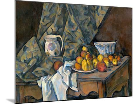 Still Life with Apples and Peaches, c.1905-Paul C?zanne-Mounted Giclee Print
