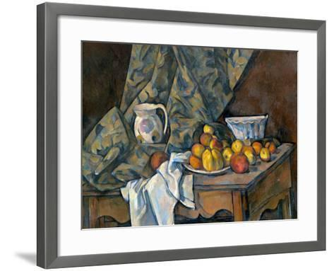 Still Life with Apples and Peaches, c.1905-Paul C?zanne-Framed Art Print