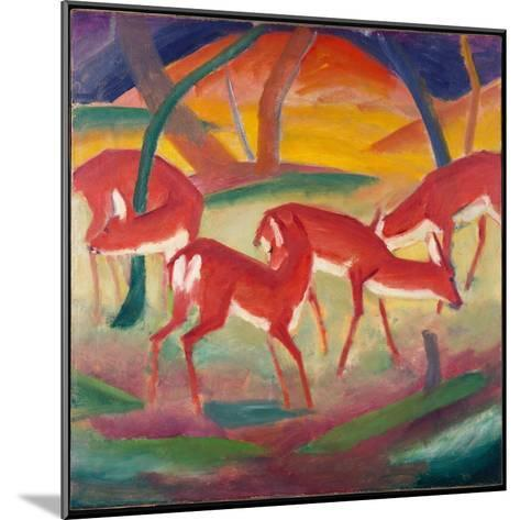Red Deer 1, 1910-Franz Marc-Mounted Giclee Print