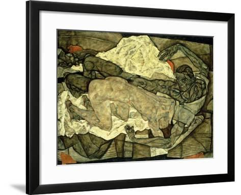 Lovers (Man and Woman I); Liebespaar (Mann Und Frau I), 1914-Egon Schiele-Framed Art Print