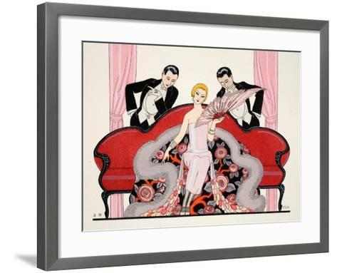 Detail of the Front Cover of 'Falbalas and Fanfreluches, Almanach des Modes-Georges Barbier-Framed Art Print
