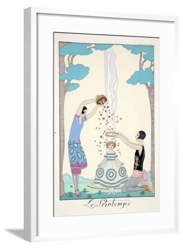 Spring, from 'Falbalas and Fanfreluches, Almanach des Modes Pr?sentes, Pass?es et Futures', 1926-Georges Barbier-Framed Art Print