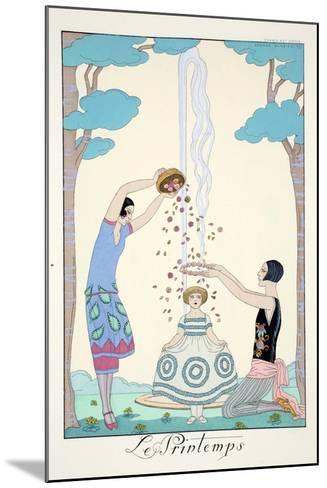 Spring, from 'Falbalas and Fanfreluches, Almanach des Modes Pr?sentes, Pass?es et Futures', 1926-Georges Barbier-Mounted Giclee Print