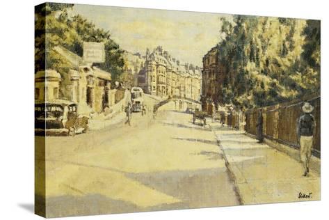 London Street, Bath, Looking Towards Walcot, c.1939-Walter Richard Sickert-Stretched Canvas Print