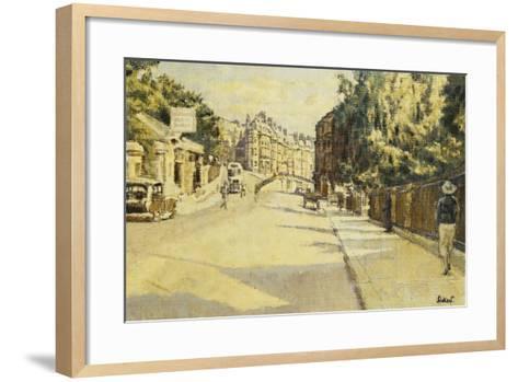 London Street, Bath, Looking Towards Walcot, c.1939-Walter Richard Sickert-Framed Art Print