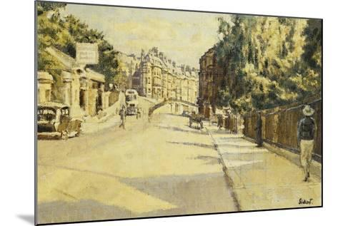 London Street, Bath, Looking Towards Walcot, c.1939-Walter Richard Sickert-Mounted Giclee Print