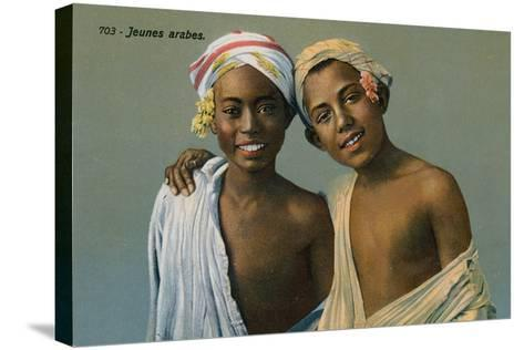 Young Arabs, Postcard Sent on 9 September 1913-French Photographer-Stretched Canvas Print