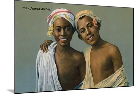 Young Arabs, Postcard Sent on 9 September 1913-French Photographer-Mounted Giclee Print
