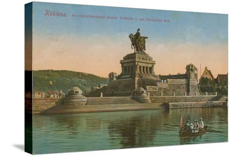 Monument to Kaiser Wilhelm I, Koblenz. Postcard Sent in 1913-German photographer-Stretched Canvas Print