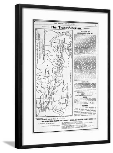 Map of the Trans-Siberian Railway, Produced by J. Bartholomew and Co., c.1920-English School-Framed Art Print
