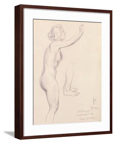 Study for Perseus and Andromeda, 1918-F?lix Vallotton-Framed Art Print