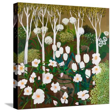 White Garden, 2013-Maggie Rowe-Stretched Canvas Print