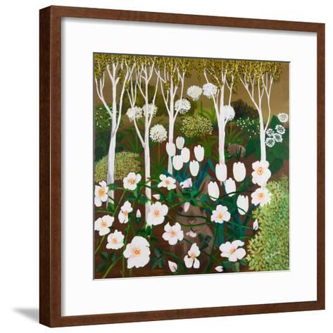 White Garden, 2013-Maggie Rowe-Framed Art Print