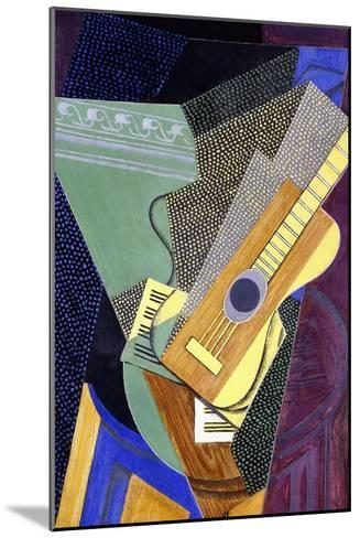 Guitar on a Table; Guitare Sur Une Table, 1916-Juan Gris-Mounted Giclee Print