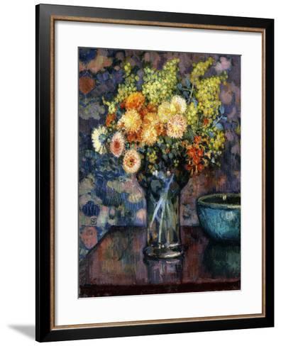 Vase of Flowers; Vase de Fleurs, c.1911-Th?o van Rysselberghe-Framed Art Print