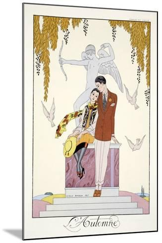 Autumn, from 'Falbalas and Fanfreluches, Almanach des Modes Pr?sentes, Pass?es et Futures', 1926-Georges Barbier-Mounted Giclee Print