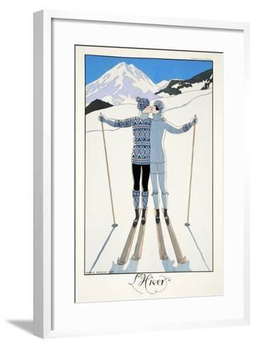 Winter, from 'Falbalas and Fanfreluches, Almanach des Modes Pr?sentes, Pass?es et Futures', 1926-Georges Barbier-Framed Art Print