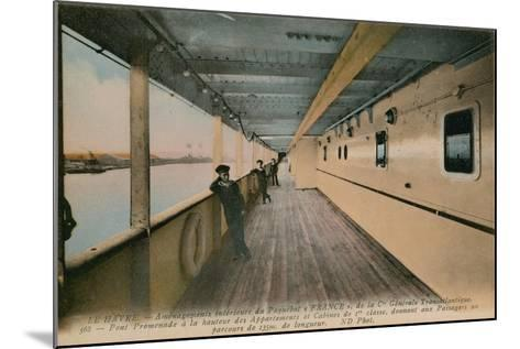 Le Havre - Interior of SS France, Ocean Liner Owned by Compagnie Generale Transatlantique.…-French Photographer-Mounted Giclee Print