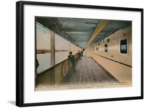 Le Havre - Interior of SS France, Ocean Liner Owned by Compagnie Generale Transatlantique.…-French Photographer-Framed Art Print