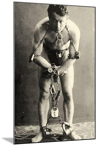 Portrait of Harry Houdini in Chains. c.1900-American School-Mounted Photographic Print