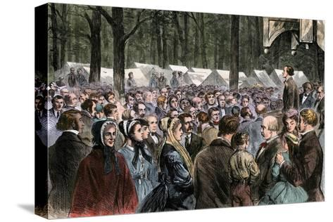 Methodist Camp-Meeting at Sing-Sing, New York, 1868--Stretched Canvas Print