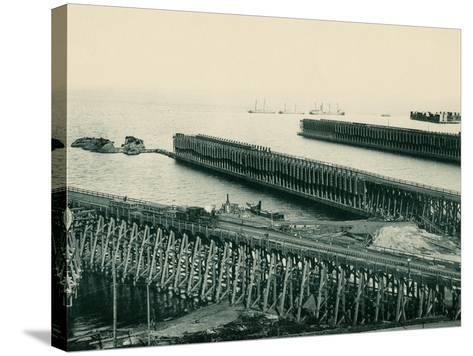 Ore Docks on Lake Superior, Marquette, Michigan, 1890s--Stretched Canvas Print