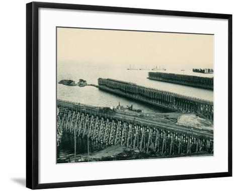 Ore Docks on Lake Superior, Marquette, Michigan, 1890s--Framed Art Print