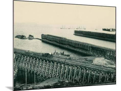 Ore Docks on Lake Superior, Marquette, Michigan, 1890s--Mounted Giclee Print