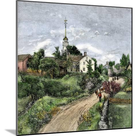 Shaker Meeting-House in Canterbury, New Hampshire, Late 1800s--Mounted Giclee Print