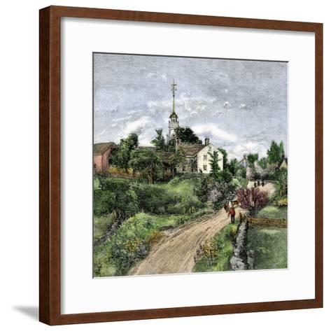 Shaker Meeting-House in Canterbury, New Hampshire, Late 1800s--Framed Art Print
