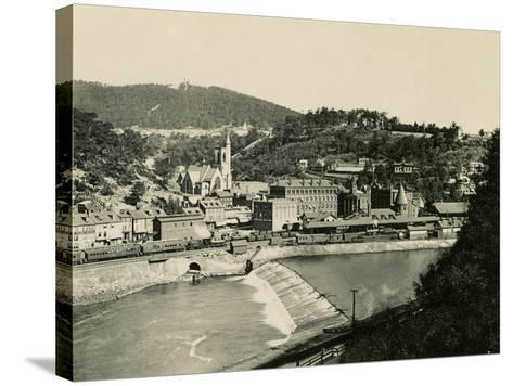 Mauch Chunk, Pennsylvania (Now named Jim Thorpe PA), in the Lehigh Valley, 1890s--Stretched Canvas Print