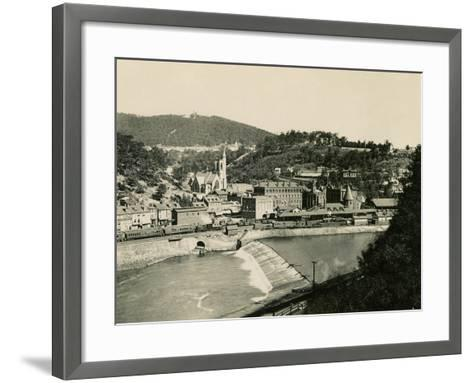 Mauch Chunk, Pennsylvania (Now named Jim Thorpe PA), in the Lehigh Valley, 1890s--Framed Art Print