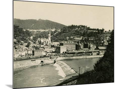 Mauch Chunk, Pennsylvania (Now named Jim Thorpe PA), in the Lehigh Valley, 1890s--Mounted Giclee Print